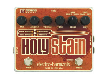 ELECTROHARMONIX HOLY Stain Multi-effect-reverb, Tremolo, Pitch, Distortion