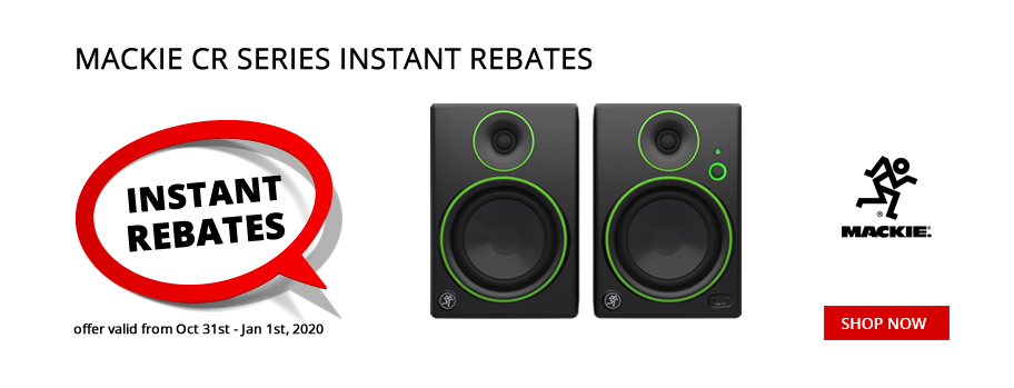 Mackie CR Series Monitor Instant Rebates