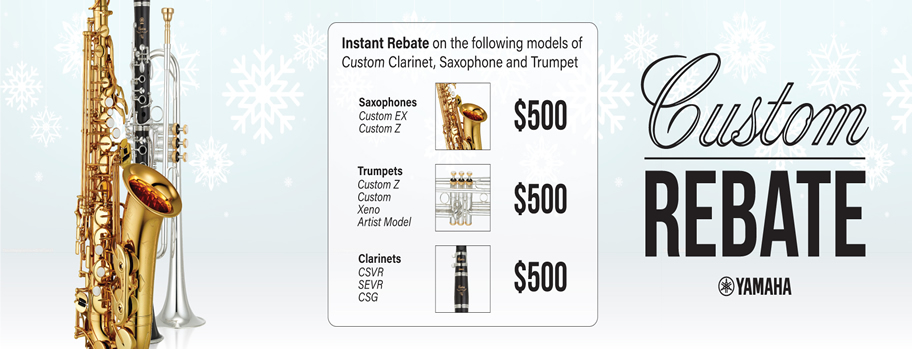 Yamaha Custom Series Rebate
