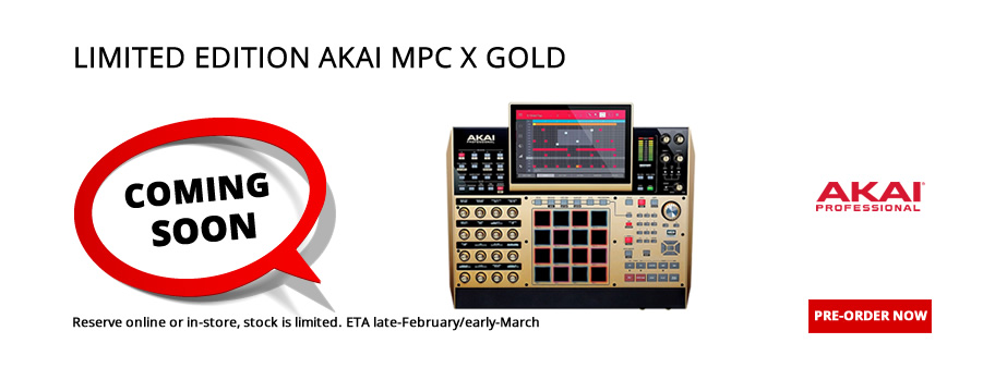 Limited Edition Akai MPC X Gold