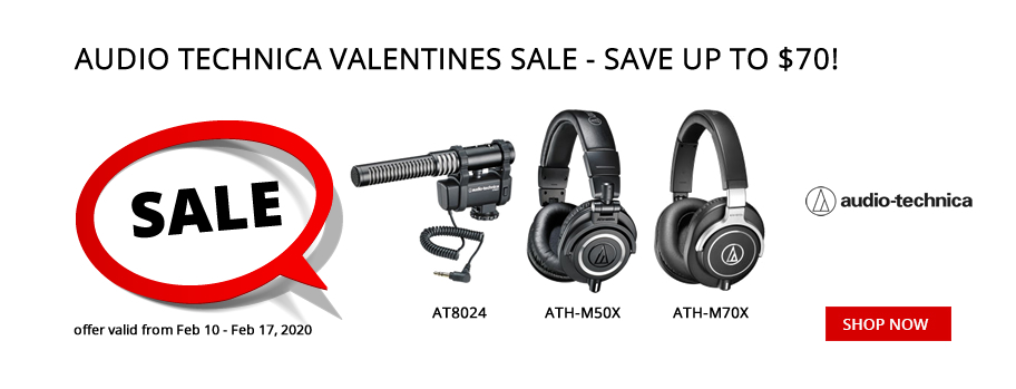 Up to $70 OFF at the Audio Technica Valentines Sale!