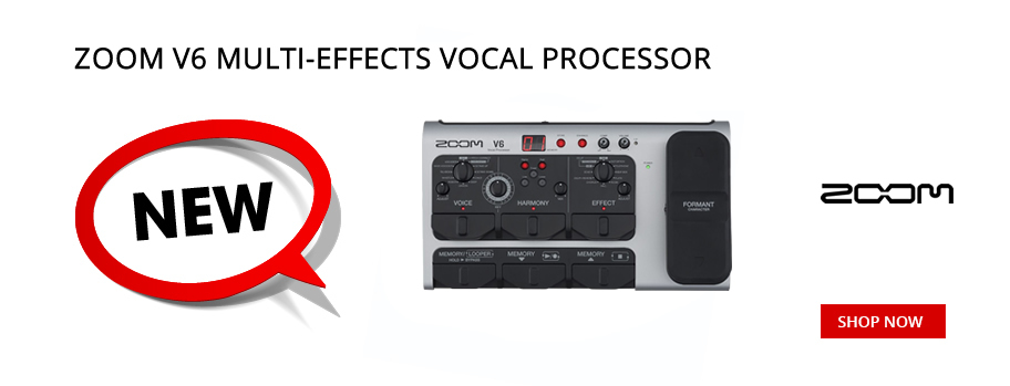 New Zoom V6 Vocal Processor
