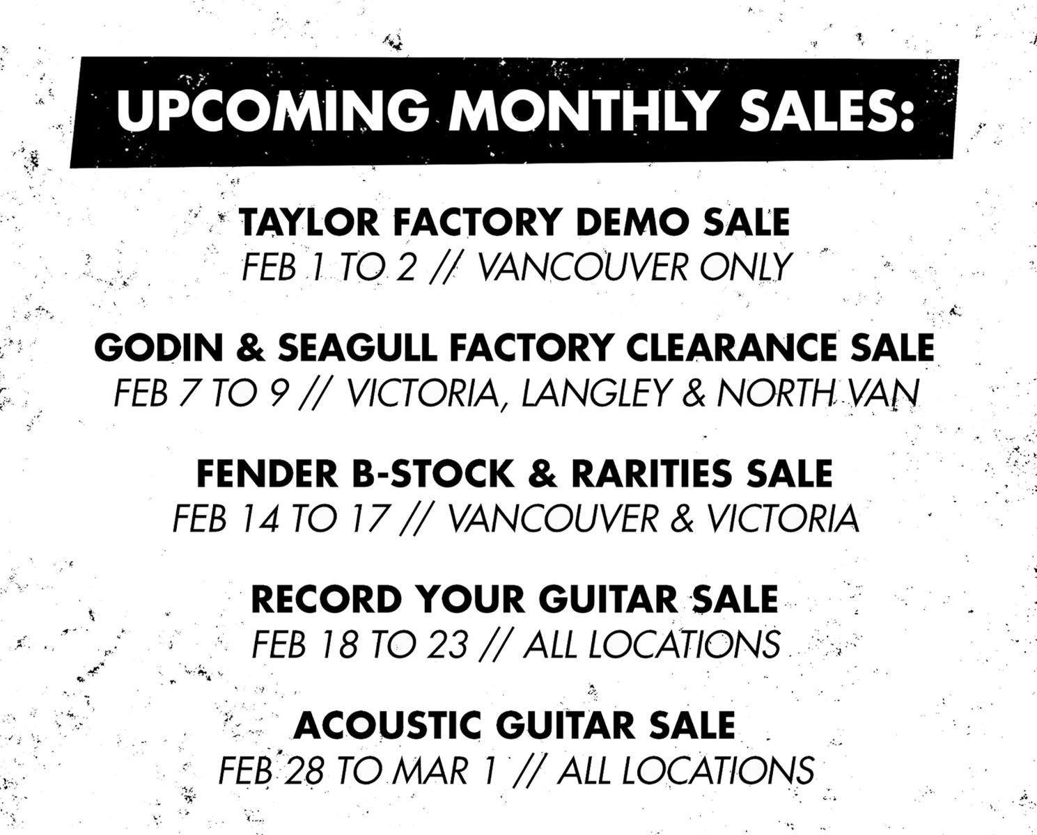 Guitar Month Weekend Sales