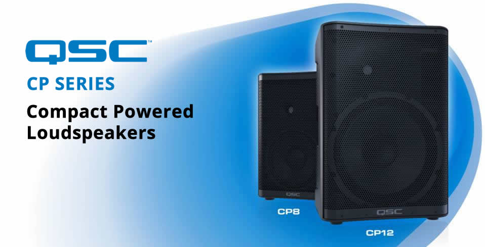 QSC CP Series Compact Powered Loudspeakers