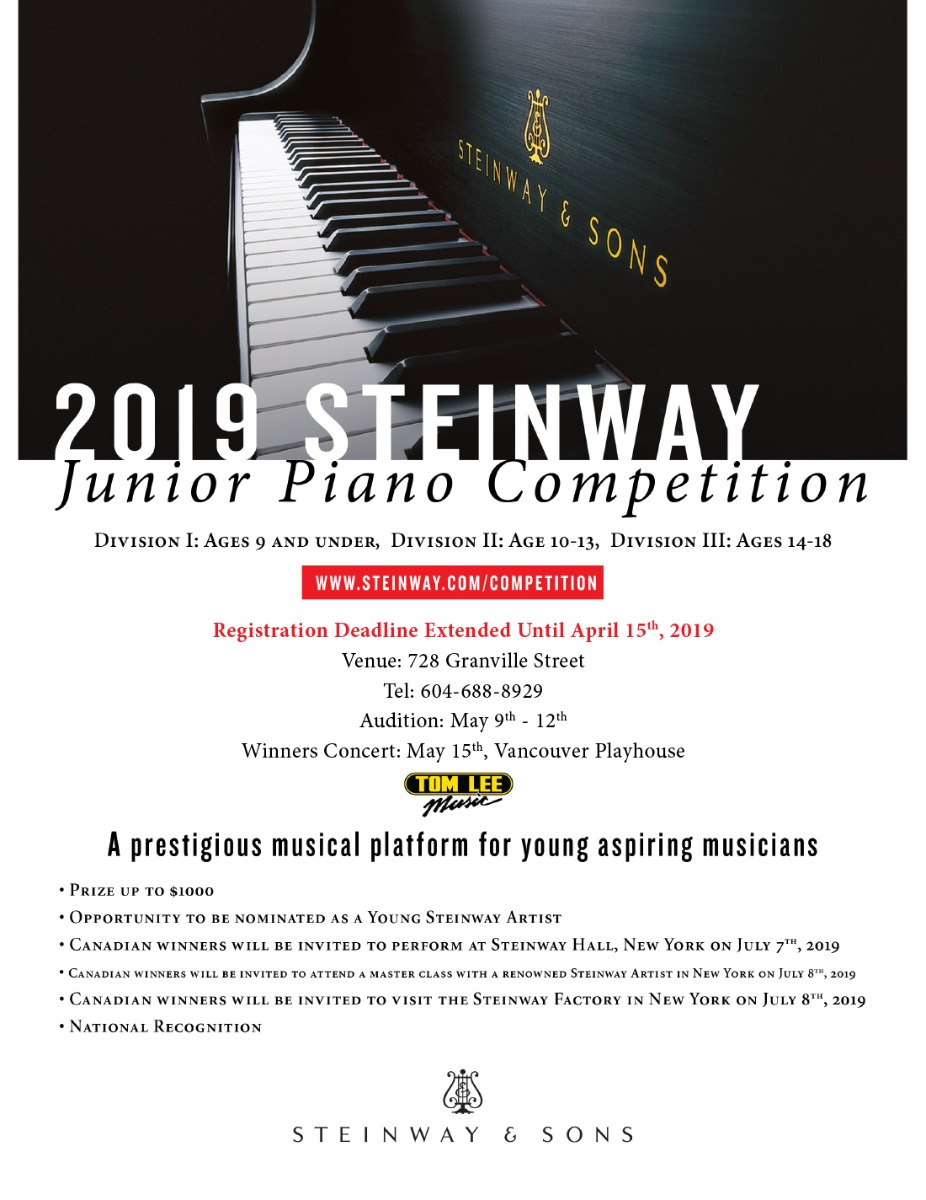 2019 Steinway Piano Competition | Tom Lee Music