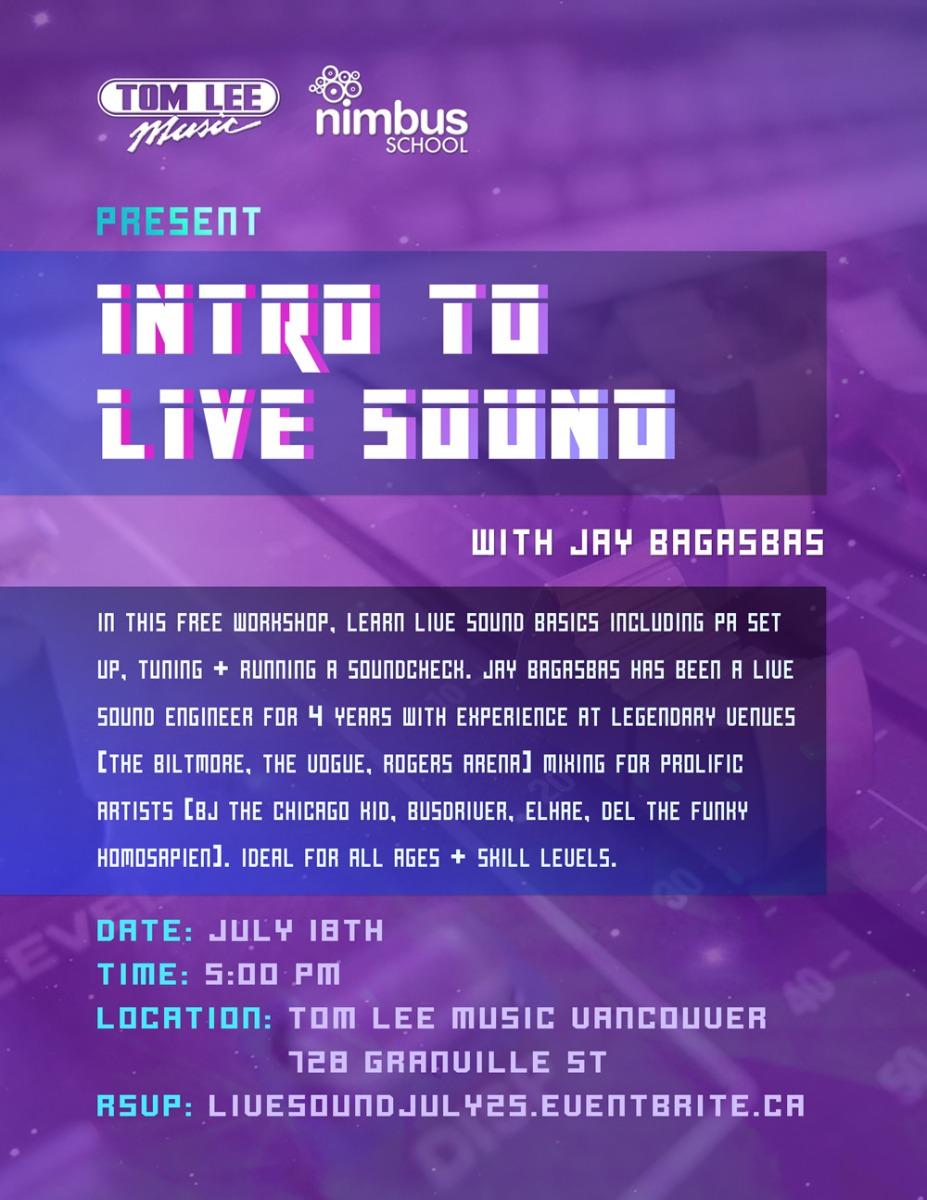 Nimbus Intro To Live Sound Workshop