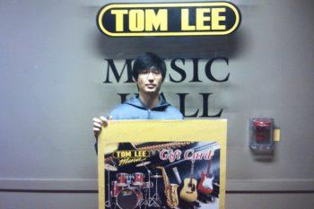 2014 Boxing Day $500 Tom Lee Music Gift Card Winner: Joseph Kim