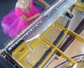 Vancouver Sun Featured Tom Lee Music's Shimmel Glass Piano