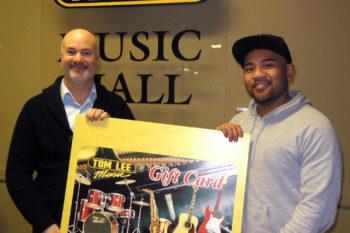 2013 Boxing Day $500 Tom Lee Music Gift Card Winner: David Ganitano