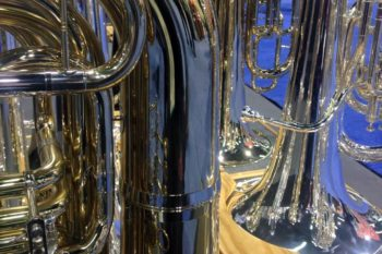 Some shiny tubas going on at the John Packer booth!